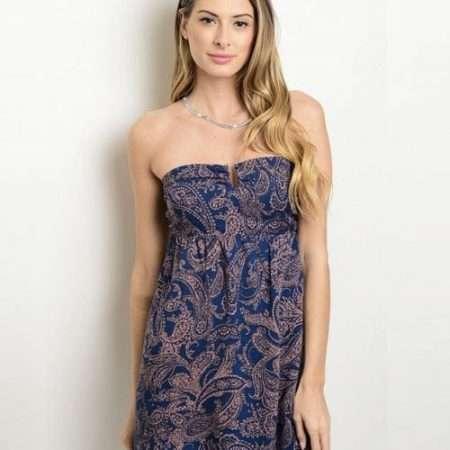Blue Filigree Dress