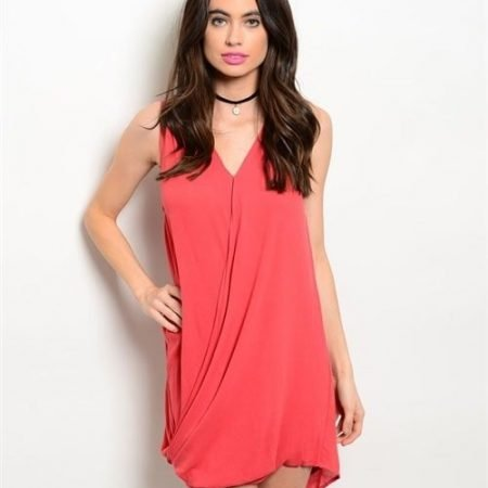 Coral Sleeveless Dress