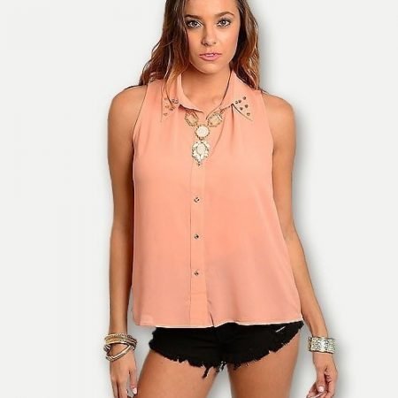 Coral Studded Blouse