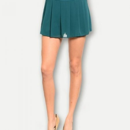 Green Chiffon Shorts