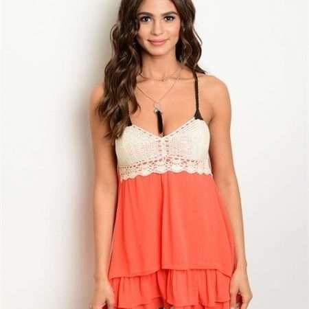 Orange Crochet Dress