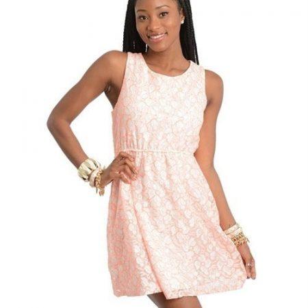 Pink Flowered Dress