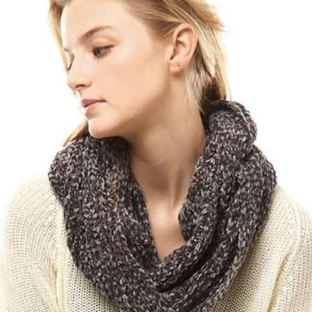 Fashionable Charcoal Winter Scarf