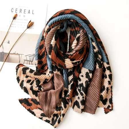 Leopard Print Ladies Fashion Scarf by Elizabeth Besich